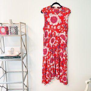 Maeve Anthropologie Floral Midi Dress XL